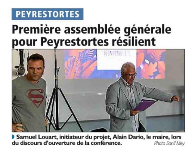 Première assemblée générale pour Peyrestortes Résilient
