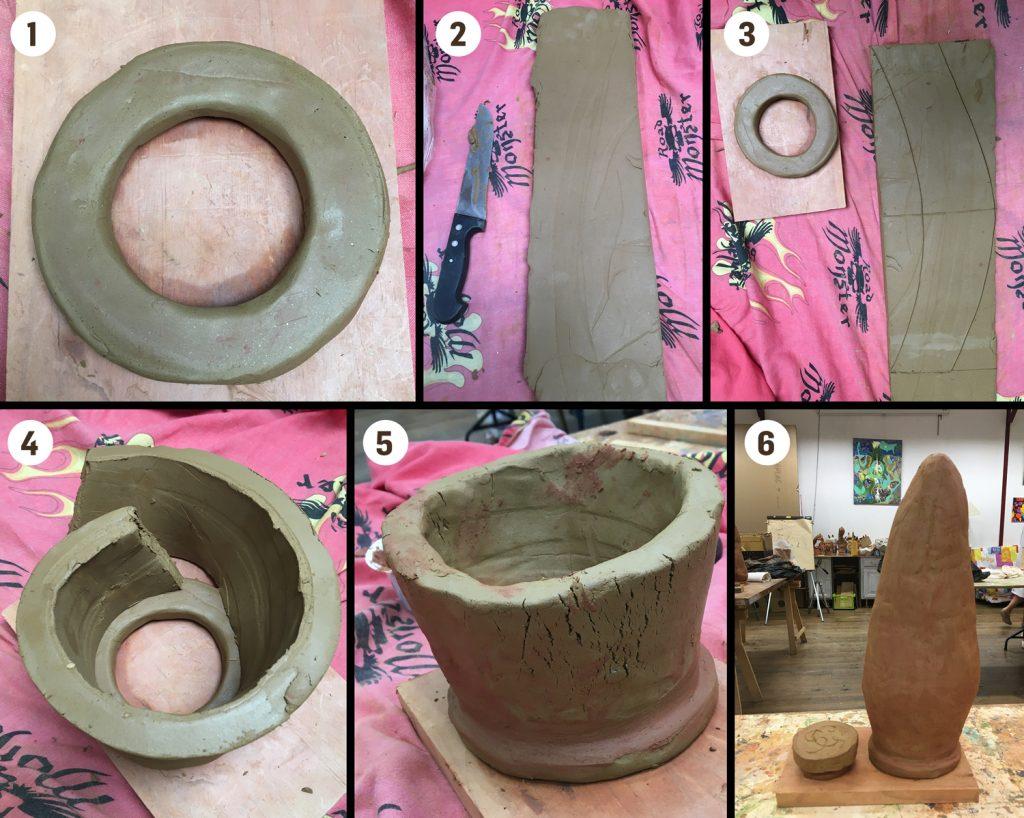 Les différentes étapes de réalisation d'une oyas.