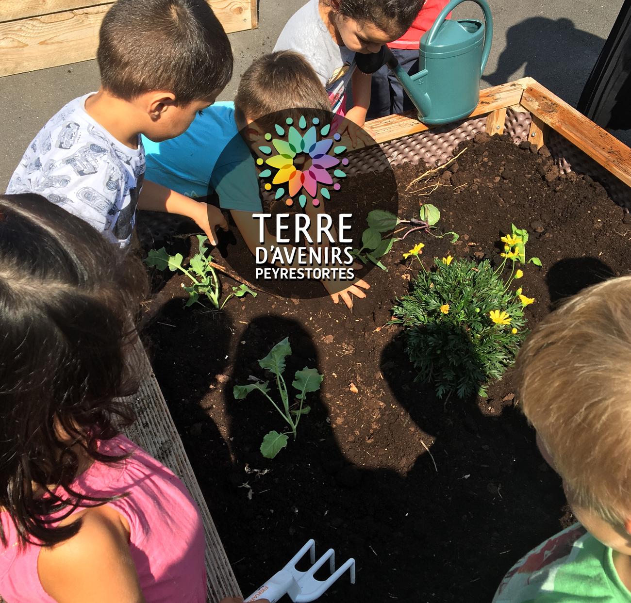 Plantations à la maternelle de Peyrestortes
